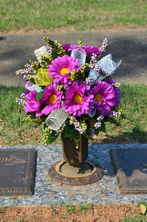 Floral Cemetery Arrangements For Vases Cemetery