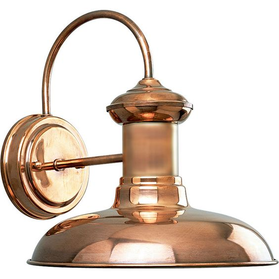 Roland Flush Mount Copper, Outdoor wall lantern and Copper wall