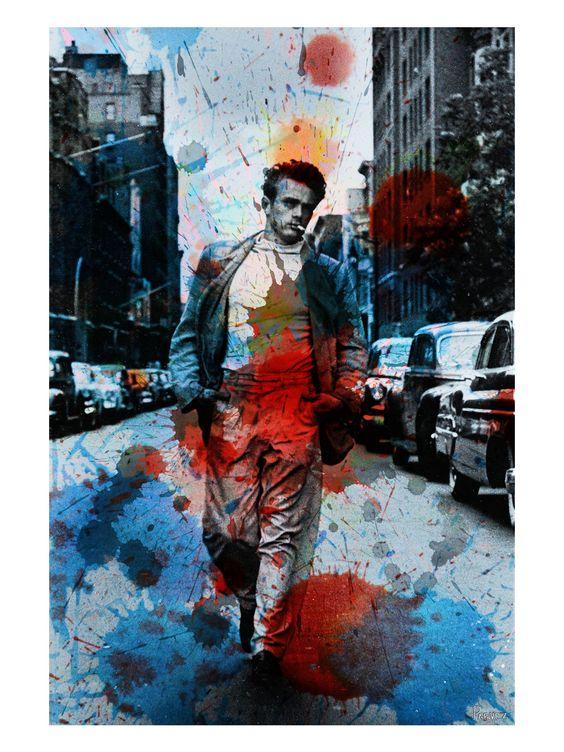 James Dean NYC (Framed Canvas)