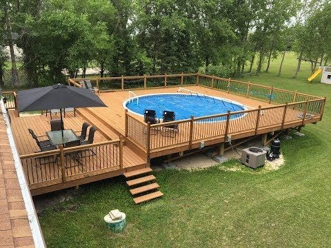Dropping An Above Ground Pool In The Ground The Details Youtube Above Ground Pool Landscaping Swimming Pools Backyard Pool Deck Plans