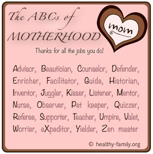 A cute message for mom on Mother's Day for all that she does for you.