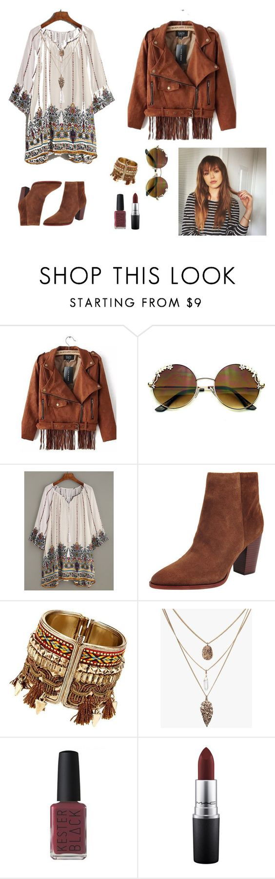"""Без названия #6"" by darkann ❤ liked on Polyvore featuring WithChic, Sam Edelman, Kester Black and MAC Cosmetics"