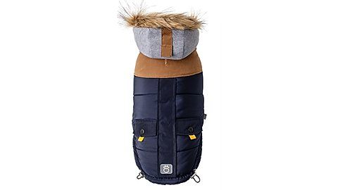 Lodge Parka Navy Gfpet In 2020 Ll Bean Boot Boots Pet Clothes