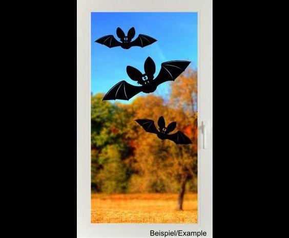 Deko Halloween - Fledermaus-Dreier - Halloween - Folien-Tattoo-Set - ein Designerstück von CatrinKerschl bei DaWanda
