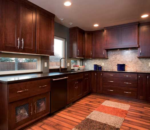 StarMark Cabinetry Fairhaven inset door style in Cherry finished ...