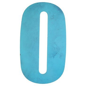 Check out this item at One Kings Lane! Blue Metal Marquee Letter O
