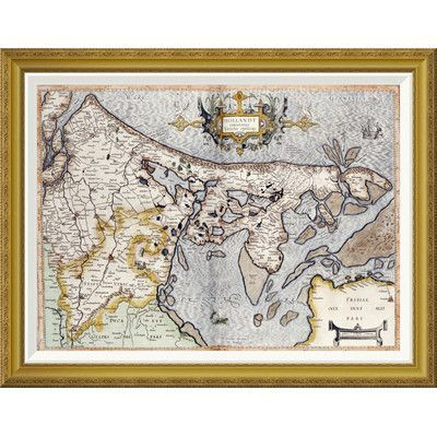 Global Gallery 'Map of Holland' by Rumold Mercator Framed Wall Art Size:
