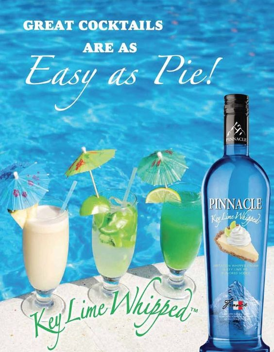 Pinnacle Key Lime Whipped is a sweet and creamy combination of imported French vodka and the taste of key lime pie. It is a decadent way to enjoy a cocktail before or after dinner.  Have desert first!