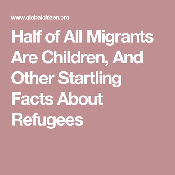 Half of All Migrants Are Children, And Other Startling Facts About Refugees