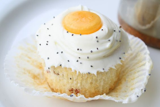 Bacon Cupcakes Sunny Side Up