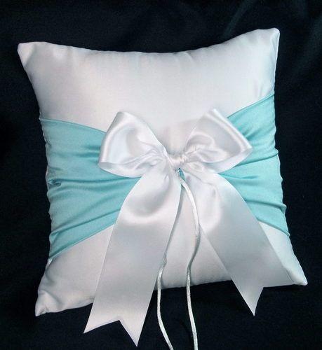 Tiffany Blue Wedding Ring Bearer Pillow