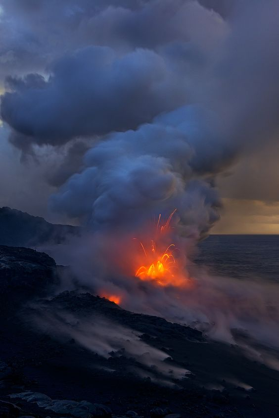 Kilauea Volcano. Big Island, Hawaii  (I probably wouldn't want to be THAT close, but I'd like to be somewhat close-- once, because that's all you need is ONE TIME.)
