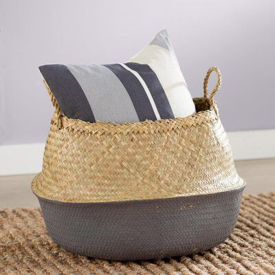 Contemporary Seagrass Basket with Handles