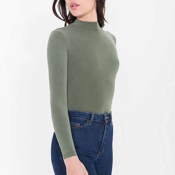 AA Brushed jersey turtleneck Cozy, light weight turtleneck American Apparel Tops Tees - Long Sleeve