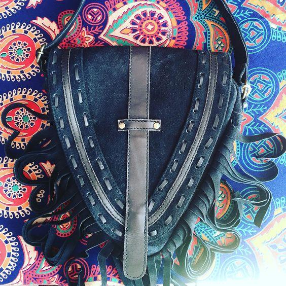 Hand crafted, goat leather saddlebag. Lover...🌎💜Petra de Luna