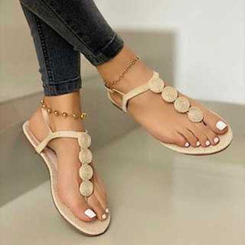 Women Summer Flat Heel Sandals in 2020
