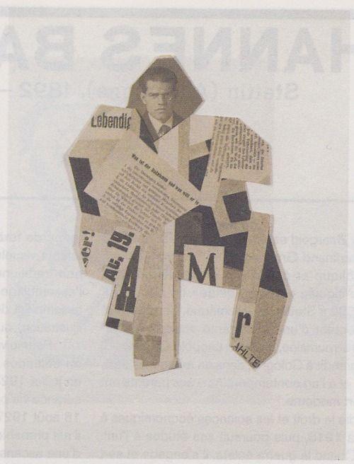 Johannes Baader, Collage Dada, Portrait de Raoul Hausmann [Dada Collage, Portrait of Raoul Hausmann], 1919, Kunsthaus Zürich, Graphische Sammlung, Zurich.