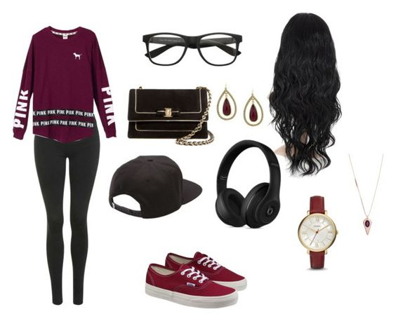 """""""Untitled #120"""" by willowzz ❤ liked on Polyvore featuring Topshop, Vans, Salvatore Ferragamo, Beats by Dr. Dre, FOSSIL, 1928 and Henri Bendel"""