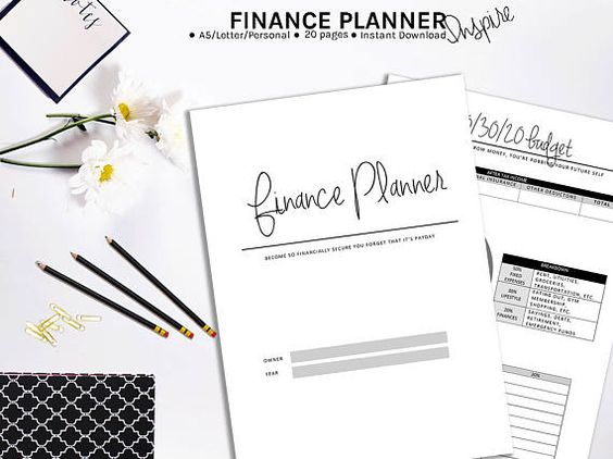 Budget Planner Printable Financial Planner Household - free download daily planner