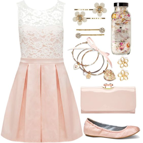 A fashion look from August 2013 featuring Forever New dresses, TOMS flats and Ted Baker clutches. Browse and shop related looks.