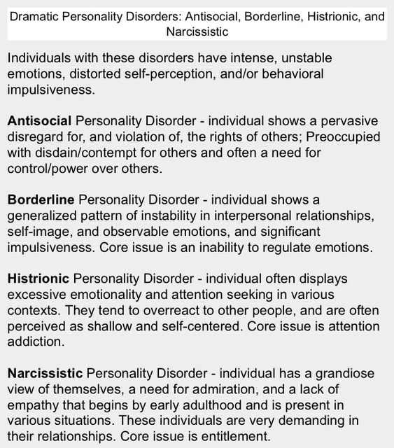 HPD Histrionic Personality Disorder (CLUSTER B DISORDER) great - admiration letter
