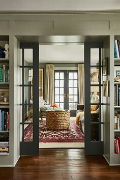 Hmmm...pocket French doors between the the living room and dining room...