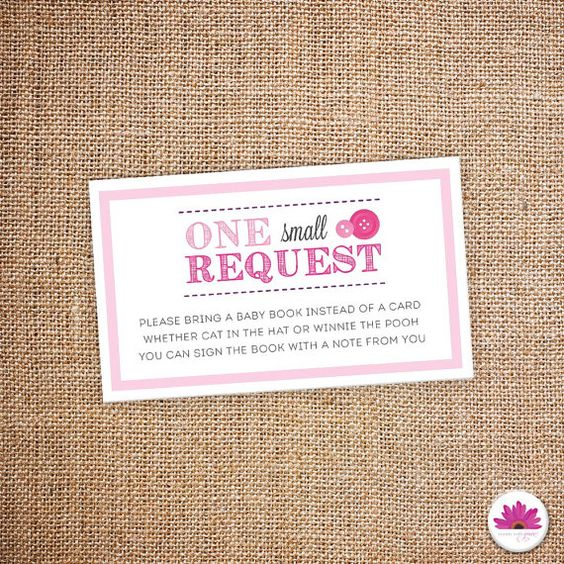 book request baby shower digital file childrens books baby