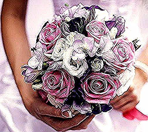 Bellissimo Mazzo Di Fiori.Mazzi Di Fiori Bellissimi Bouquet Rotondo Rose Rosa Fiori Bianchi