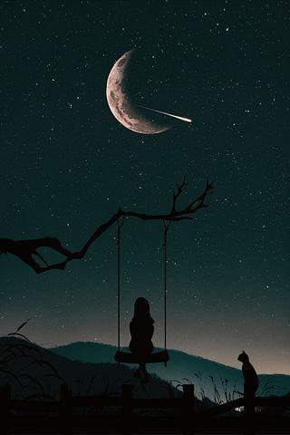 Silhouette Nature Ciel Personnes Photo Paysage Magnifique Fond D Ecran Colore Fond D Ecran Telephone