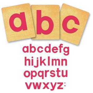 Ellison SureCut Die Set - Block Alphabet, Lowercase Letters - 4 Inch