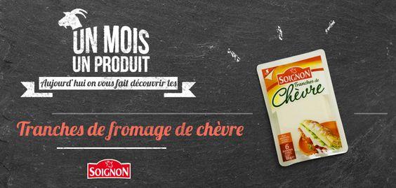Tranches de #fromage de #chèvre Soignon, idéal pour les #sandwiches !