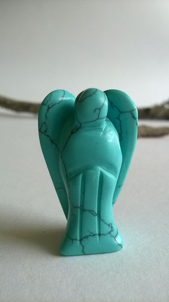 #Angel #Turquoise #Seraphim #Protection #Love Guardian Angel Figurine Charm Turquoise Angel Healing by Maryolla