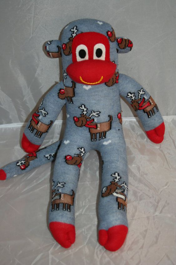 Check out this item in my Etsy shop https://www.etsy.com/listing/201948856/christmas-rudolph-sock-monkey-plush