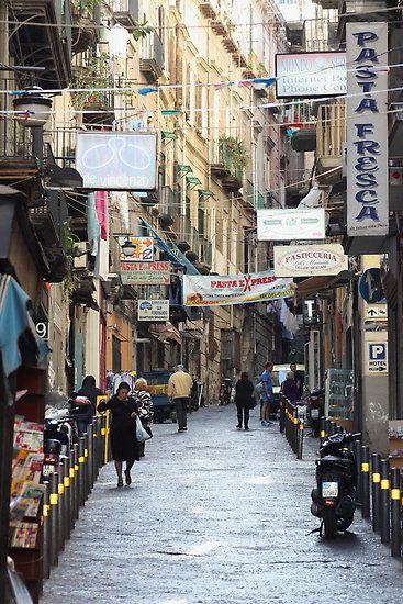 Naples' street life,