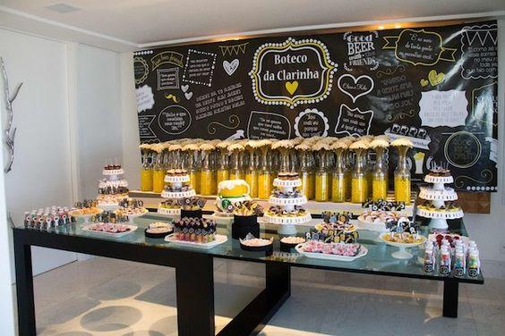 Chá de Cozinha | Tema Boteco e Cerveja | Vestida de Noiva | Blog de Casamento por Fernanda Floret: