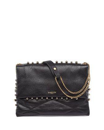 Sugar Studded Shoulder Bag, Black by Lanvin at Neiman Marcus.