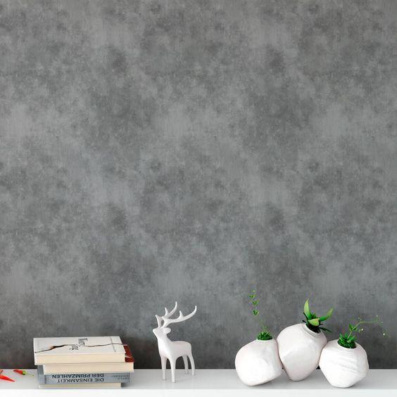 Papel de Parede Cimento Queimado - Modelo Exclusivo   BemColar