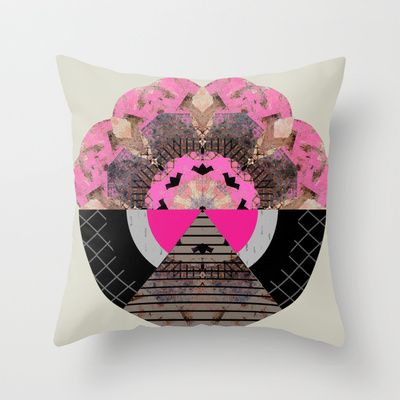 Broken flower Throw Pillow by Georgiana Paraschiv - $20.00