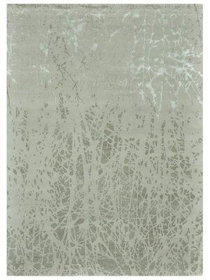Hermitage Silk and Wool Hand-Knotted Rug