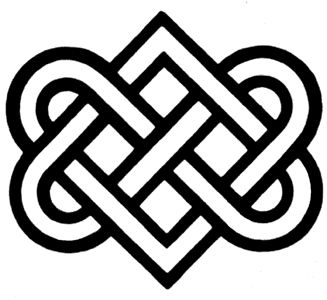 Celtic Love Knot tattoo - matching one with Oz on her right hip bone - his left.
