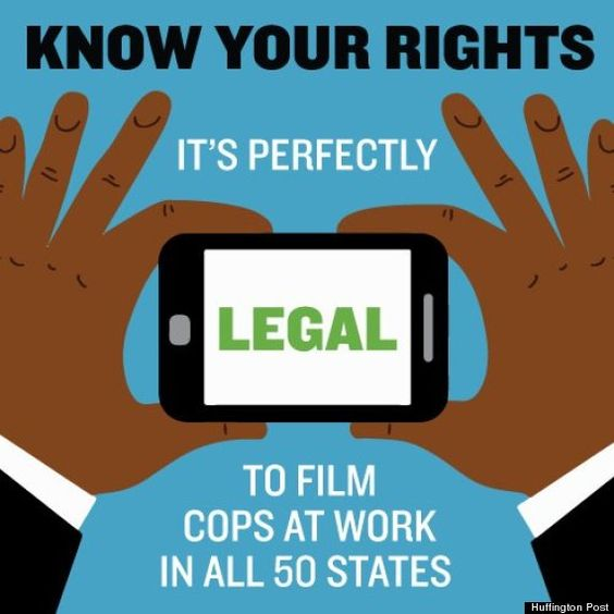 "filmthecops ""Members of the public are legally allowed to record police interactions,"" the memo states, according to the Daily News. ""Intentional interference such as blocking or obstructing cameras or ordering the person to cease constitutes censorship and also violates the First Amendment."""
