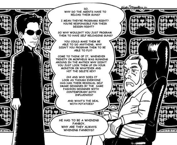 the matrix fate vs free will Fate and free will in the matrix, fate is non-negotiable as the world is preprogramed human actions are predetermined so free will does not exist.