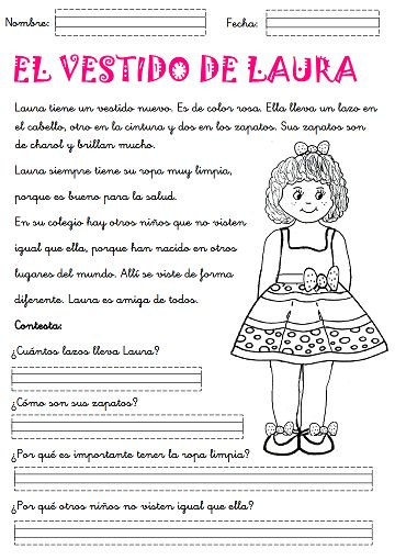 Printables Spanish Reading Comprehension Worksheets spanish comprehension and worksheets on pinterest reading in grade