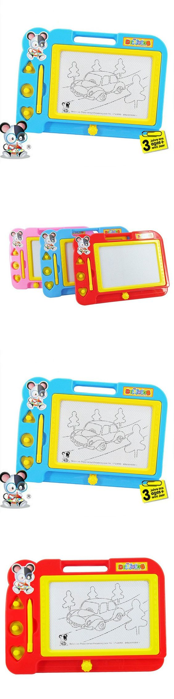 Magnetic craft board - Plastic Magnetic Drawing Board Sketcher Doodle Painting Toy Craft Art For Kids Children Multi Color