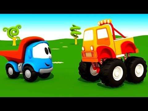 Leo Der Lastwagen Videos Fur Kinder 5 Folgen Am Stuck Youtube Zeichentrickfilme Monster Truck Lastwagen