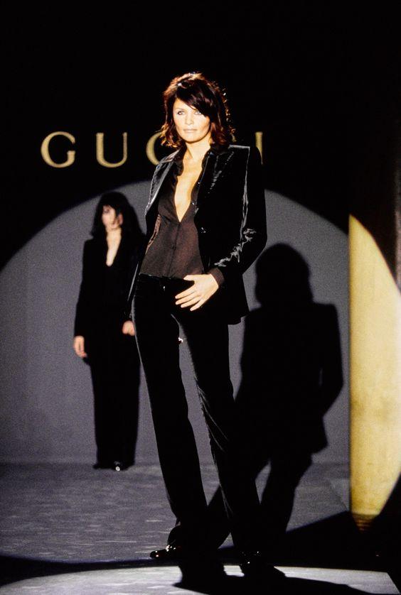 Gucci Fall 1995 Ready-to-Wear Fashion Show - Helena Christensen