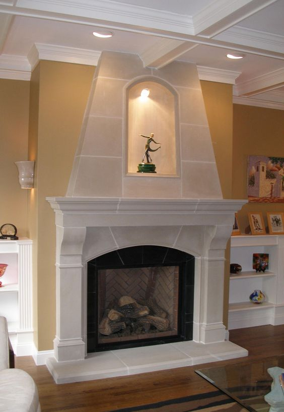 Beautiful Mantels And Stone Fireplaces On Pinterest