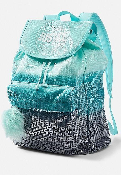 Faux Fur Rucksack Backpack Justice School Backpack