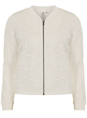 DP Collection Ivory quilted bomber jacket - Jackets & Coats  - Clothing