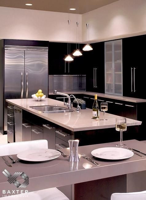 Modern kitchens luxury kitchens and modern on pinterest for Luxury modern kitchen